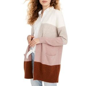 Madewell Ryder Stripe Cardigan Sweater S